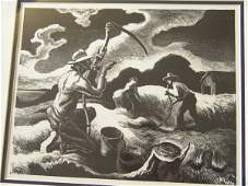 282 Thomas Hart Benton 18891975 Pencil Signed Litho
