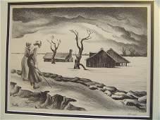 284 Thomas Hart Benton Pencil Signed Lithograph