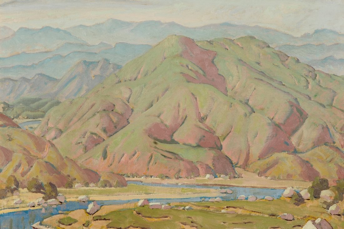 RALPH HOLMES (1876-1963) OIL ON CANVAS