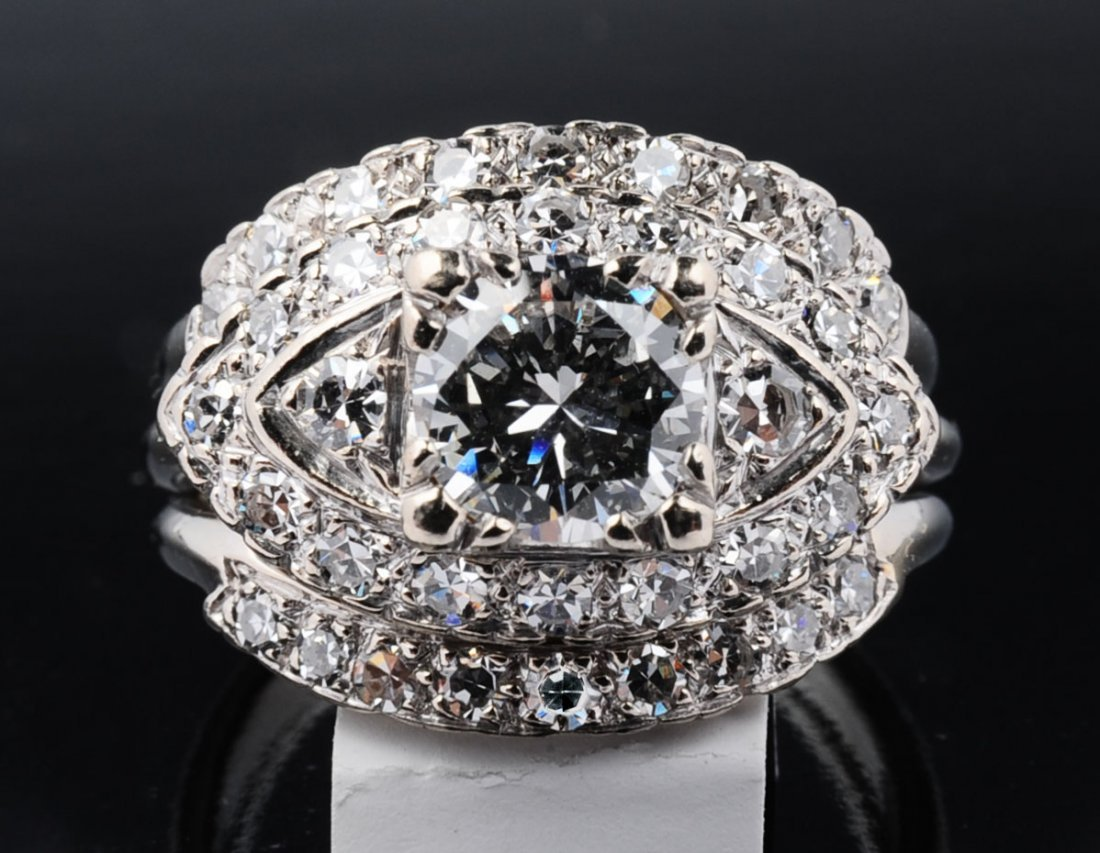 LADIES' 1.79 CARAT TOTAL WEIGHT DIAMOND ENGAGEMENT RING