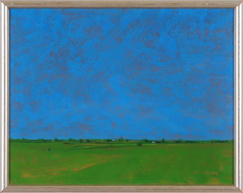 DAVID MELBY (KANSAS, 1942-2014) OIL ON BOARD