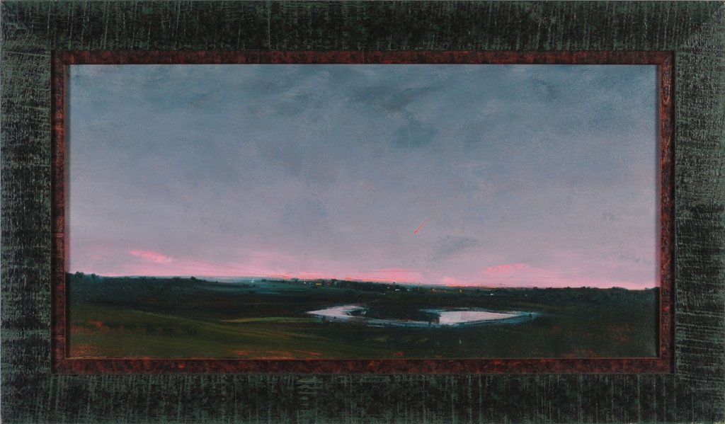 DAVID MELBY (KANSAS, 1942-2014) OIL ON CANVAS