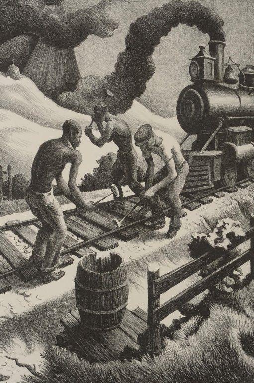 THOMAS HART BENTON (1889-1975) PENCIL SIGNED LITHOGRAPH