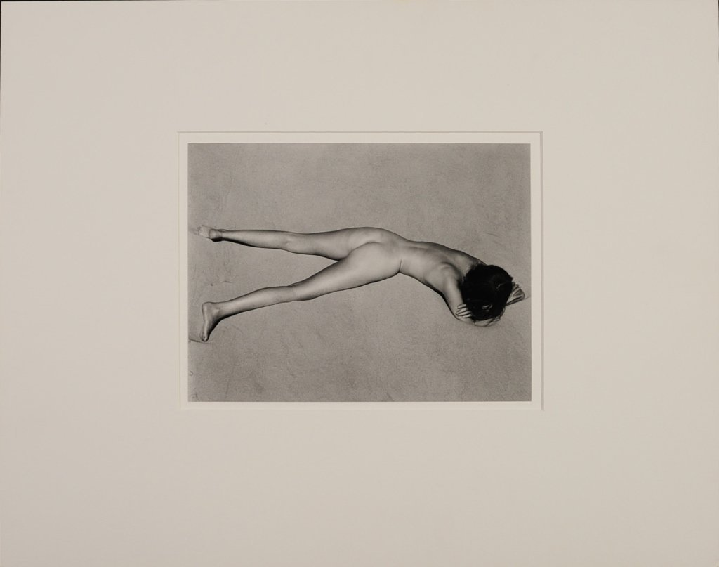 EDWARD & COLE WESTON: 'CHARIS ON DUNES' SILVER PRINT