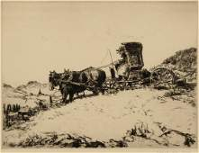 GEORGE WRIGHT 18721951 PENCIL SIGNED ETCHING