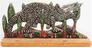 ATTRIBUTED HOWARD FINSTER, TRICERATOPS