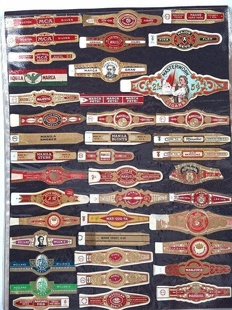 1: COLLECTION OF APPROX. 540 ANTIQUE CIGAR BAND LABELS