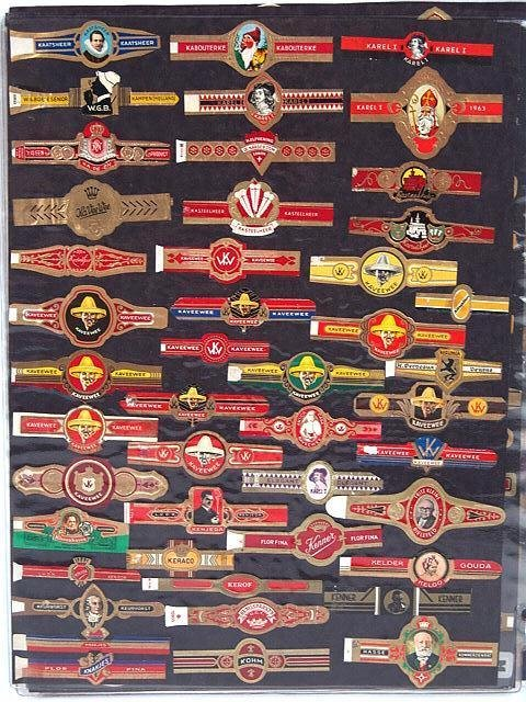 2: COLLECTION OF APPROX. 420 ANTIQUE CIGAR BAND LABELS