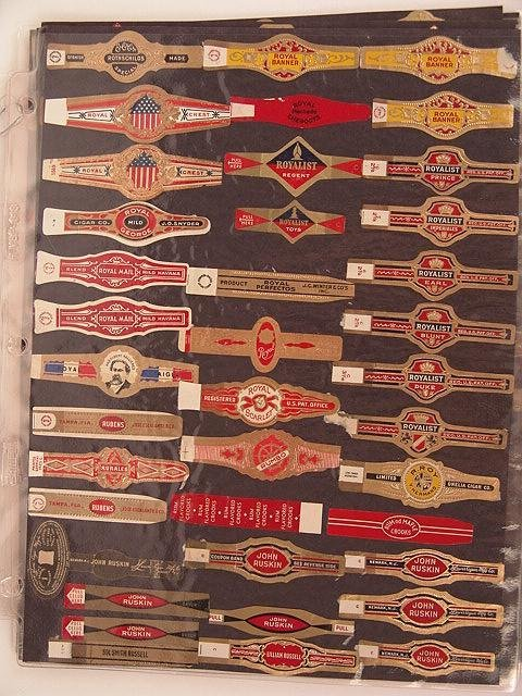 5: COLLECTION OF APPROX. 200 ANTIQUE CIGAR BAND LABELS