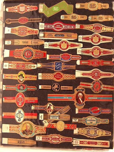 6: COLLECTION OF APPROX. 501 ANTIQUE CIGAR BAND LABELS