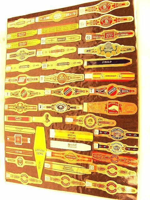 9: COLLECTION OF APPROX. 390 ANTIQUE CIGAR BAND LABELS