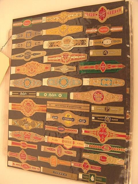 10: COLLECTION OF APPROX. 504 ANTIQUE CIGAR BAND LABELS