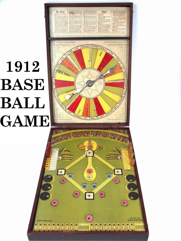"98:Rare Boxed Game: 1912 ""MAJOR LEAGUE BASEBALL GAME"""