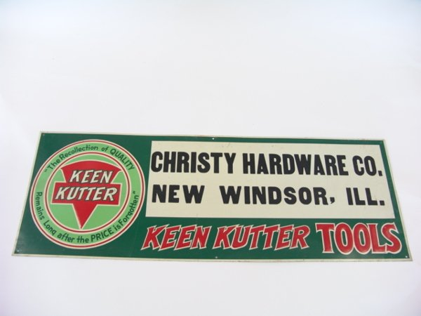 500: TIN ADVERTISING SIGN FOR KEEN KUTTER TOOLS