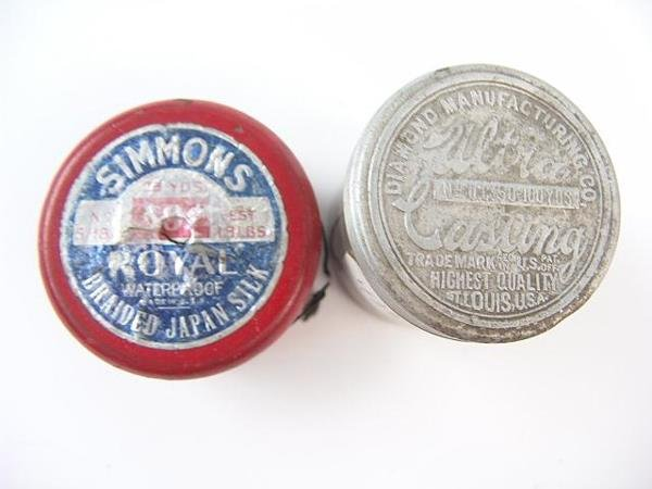507: VINTAGE SPOOLED FISHING LINE BY SIMMONS
