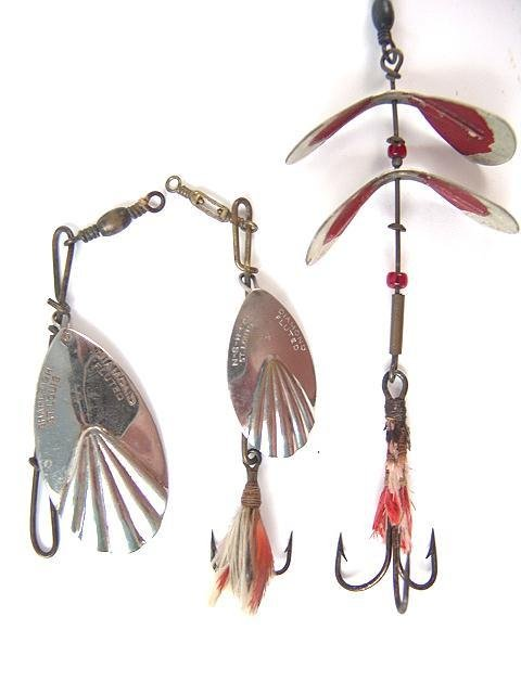 508: THREE OLD SHAPLEIGH FISHING LURES
