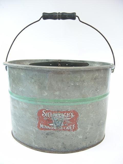 510A: SHAPLEIGH'S ANTIQUE FISHING MINNOW BUCKET