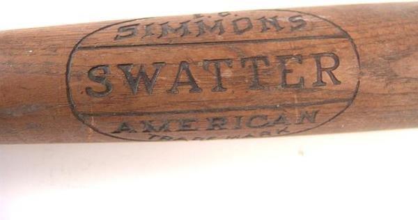 516: SIMMONS SWATTER ANTIQUE BASEBALL BAT