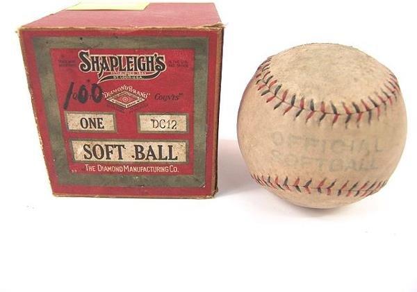518: SHAPLEIGH'S 1920'S SOFTBALL IN ORIGINAL BOX