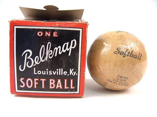 519: BELKNAP '30'S SOFTBALL UNUSED ORIGINAL BOX