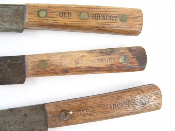 570: THREE SHAPLEIGH'S OLD HICKORY BUTCHER KNIVES - 2