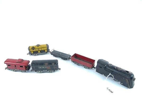 2505: ANTIQUE TOY WIND UP TIN TRAIN