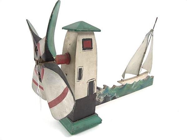 2511: MAINE WHIRLIGIG WITH SAILBOATS