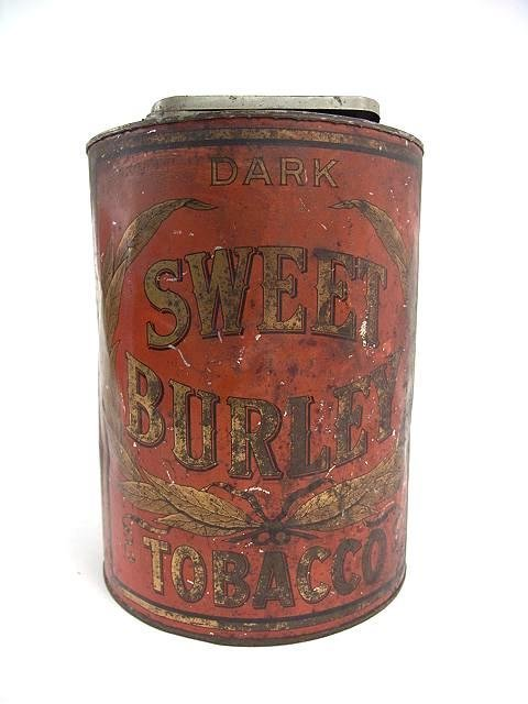 2517: SWEET BURLEY CHEWING TOBACCO ADVERTISING TIN