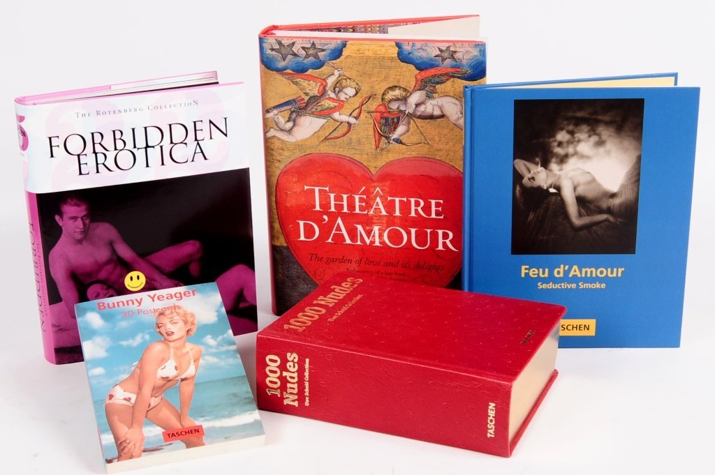 FIVE TASCHEN BOOKS EROTICA AND RELATED