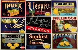 EIGHTY-FIVE NEW OLD STOCK VINTAGE CRATE LABELS C. 1940