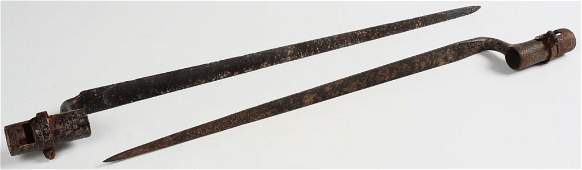 TWO 19TH CENTURY SOCKET BAYONETS