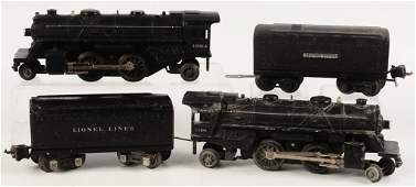 TWO LIONEL PREWAR SETS WITH LOCOMOTIVE AND TENDER #2689