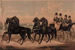LRG CURRIER   IVES THE CELEBRATED FOUR IN
