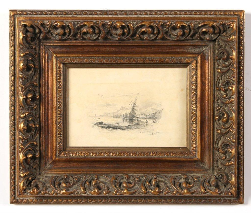 JOHN WILSON EWBANK (1779-1847) GRAPHITE SKETCH ON PAPER
