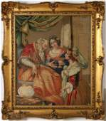 FINELY EXECUTED 19TH C. ENGLISH NEEDLEWORK PICTURE
