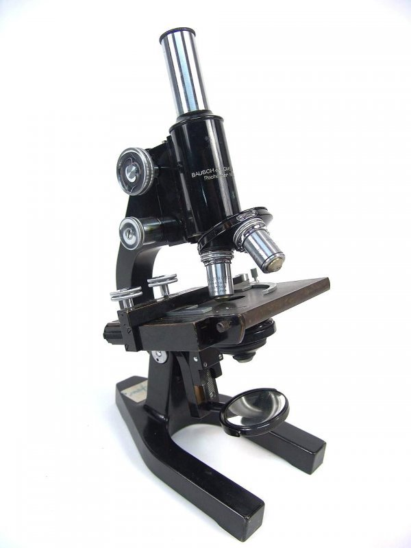 7: BAUSCH & LOMB MICROSCOPE WITH THREE OBJECTIVES