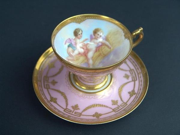 708: WONDERFUL LAMM DRESDEN CABINET CUP AND SAUCER