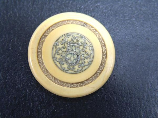 516A: FANCY INLAID VICTORIAN POKER CHIP