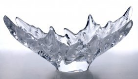 A Lalique French Crystal 'champs Elysees' Console
