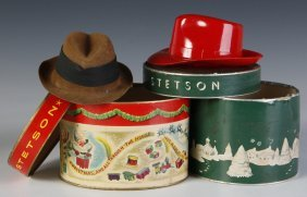 Two Stetson Salesman Samples Hats In Boxes