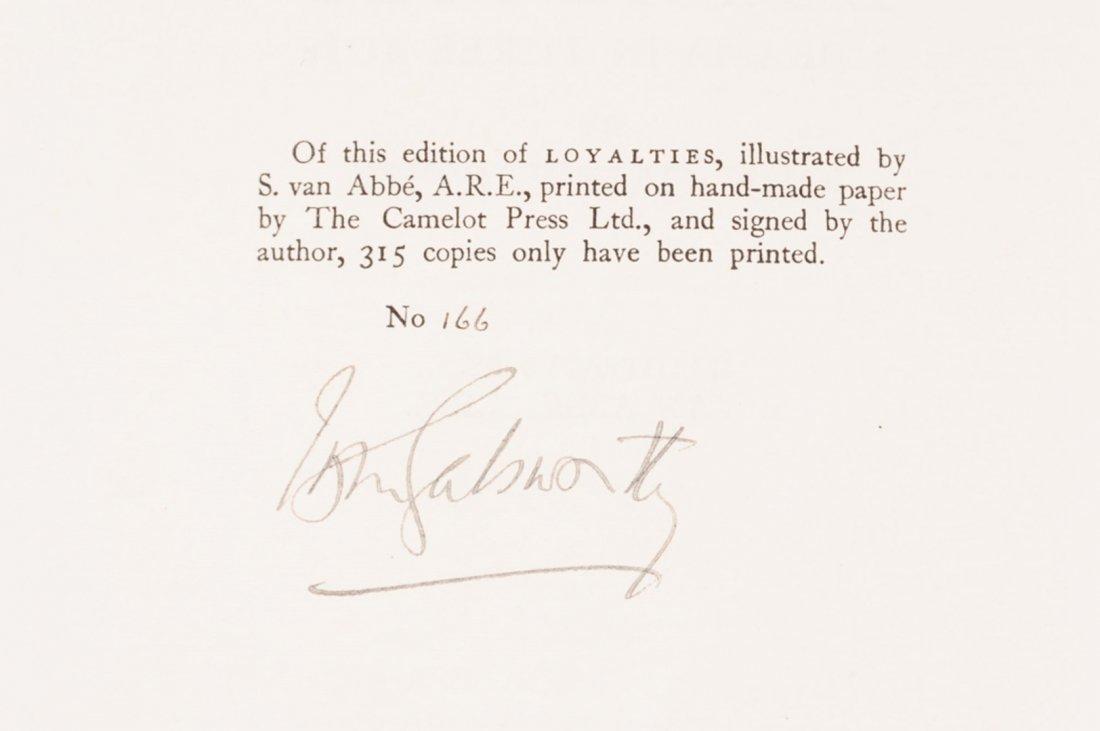 THREE VOLUMES; GALSWORTHY, GOLDMAN, HARRIS, ONE SIGNED - 4