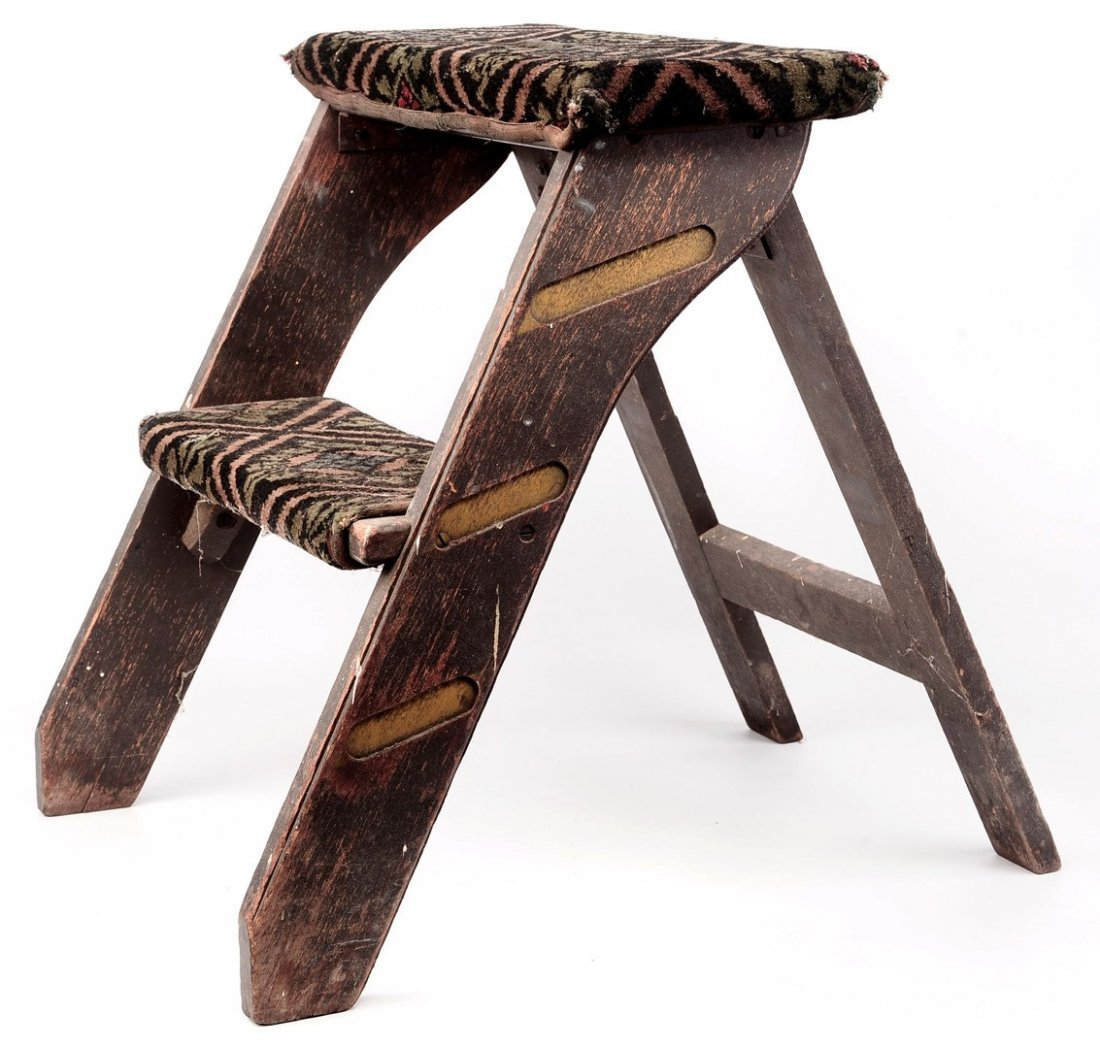 PULLMAN WOODEN FOLDING STEP STOOL