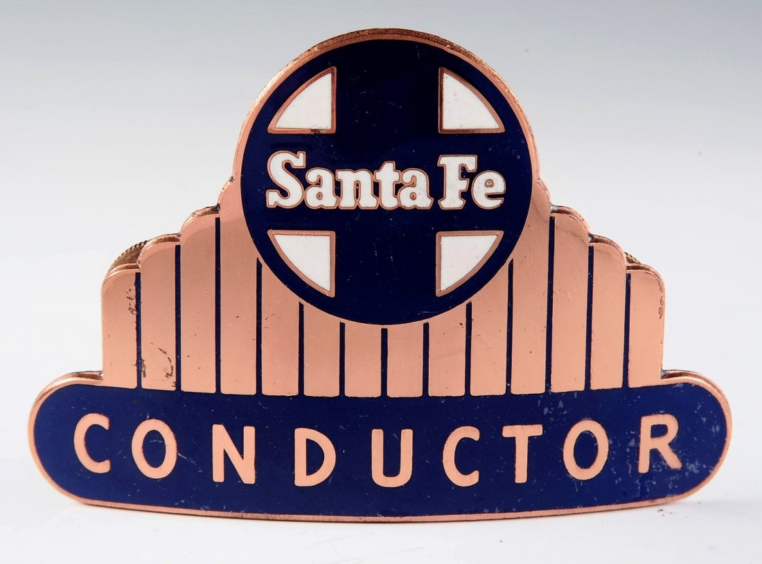 SANTA FE RAILROAD CONDUCTOR CAP BADGE