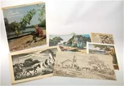 THOMAS HART BENTON INSCRIBED BOOK & CHRISTMAS CARDS