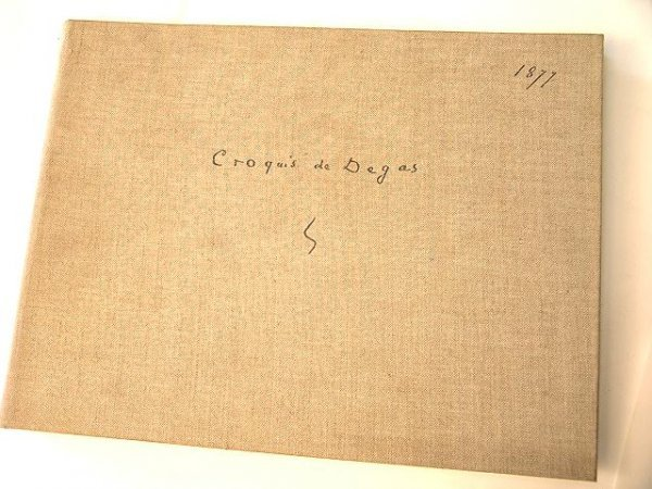16: 1949 ART BOOK: EDGAR DEGAS ALBUM DE DESSINS - 1877