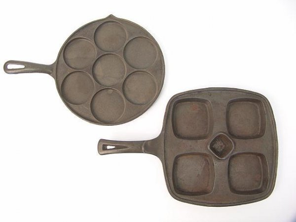 1010: TWO UNUSUAL CAST IRON GRIDDLES