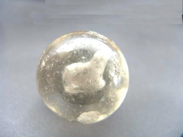 2002: 1.5 INCH SULPHIDE MARBLE WITH DOG
