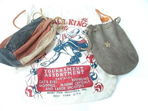 2007: GROUP OF ANTIQUE MARBLE BAGS