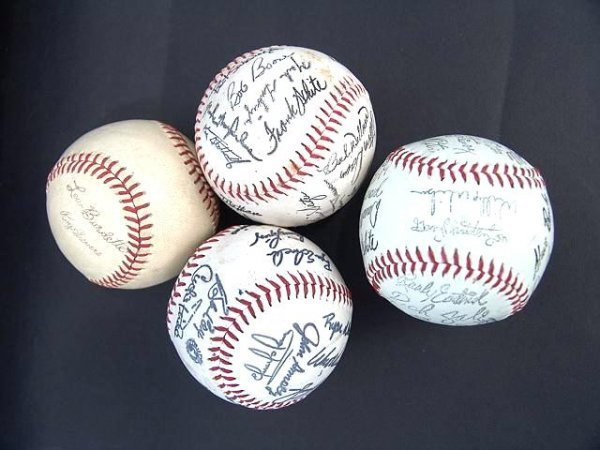 2015: FOUR VARIOUS BASEBALLS WITH PRINTED SIGNATURES