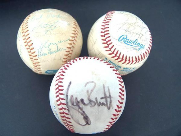 2018: THREE KANSAS CITY ROYALS SIGNED BASEBALLS, INCL '